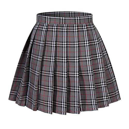 beautifulfashionlife-girl-s-a-line-kilt-plaid-pleated-skirts-xs-grey-mixed-white__51tA62KLi8L.jpg (500×500)