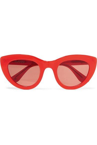 GANNI | Mia cat-eye acetate sunglasses | NET-A-PORTER.COM