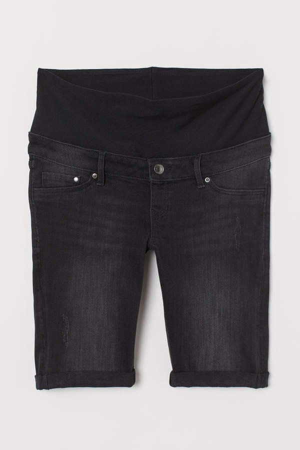 MAMA Denim Shorts - Black