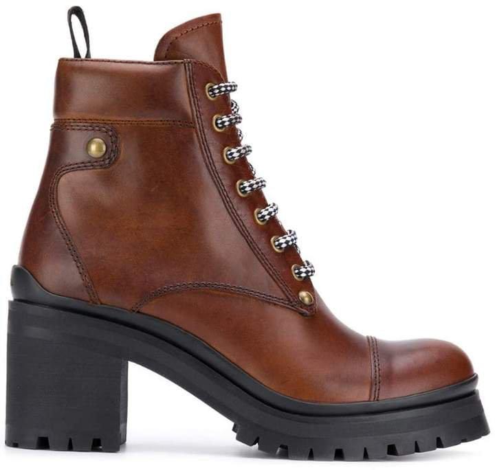 chunky heel hiking boots