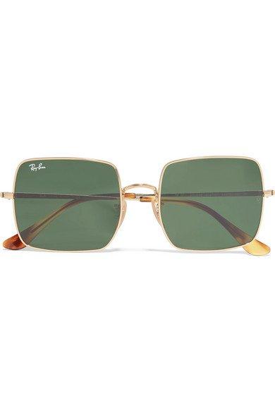 Ray-Ban | Square-frame gold-tone sunglasses | NET-A-PORTER.COM