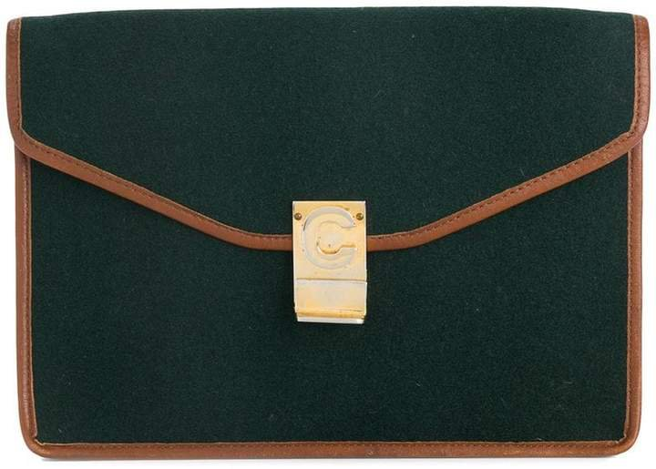 Pre-Owned fold over clutch bag