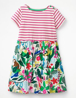 Bright Hotchpotch Jersey Dress G0509 Day Dresses at Boden