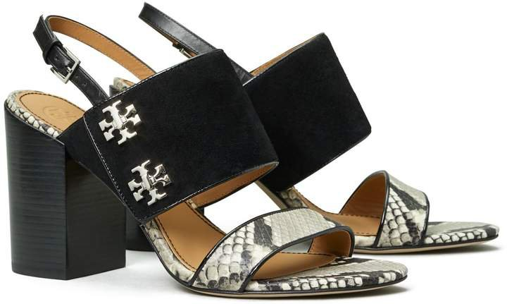Kira Embossed-Leather Sandal