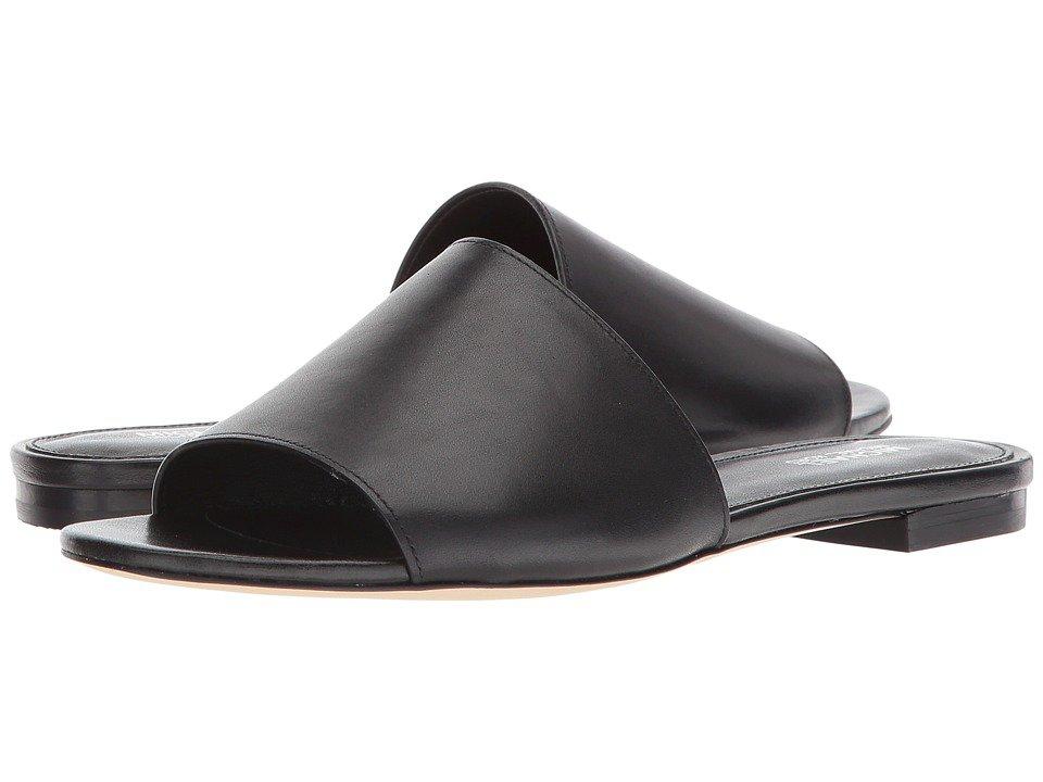 MICHAEL Michael Kors - Shelly Slide (Black Vachetta/Stacked Heel) Women's Sandals