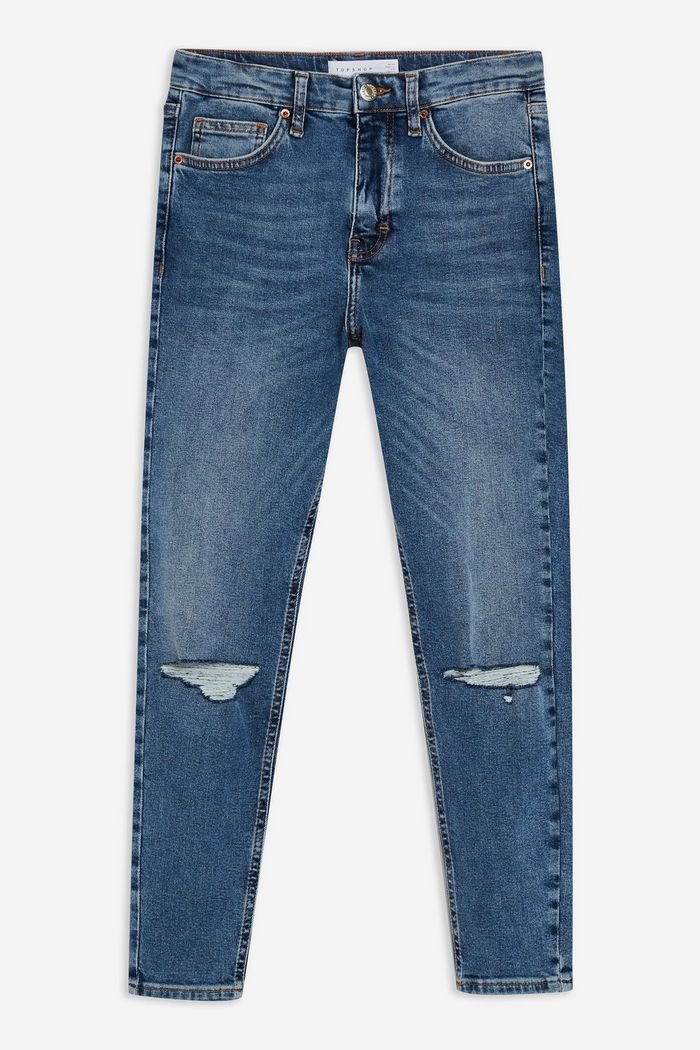 Bleach Ripped Mom Jeans | Topshop