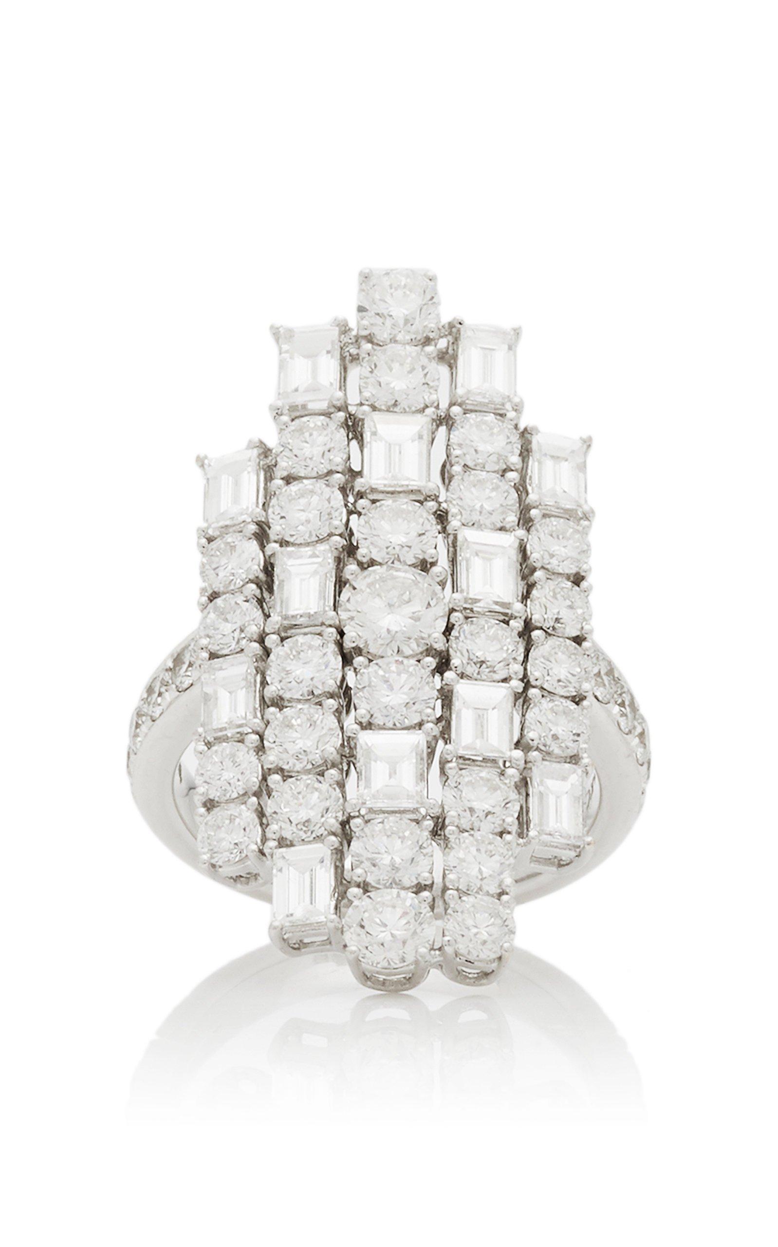 Anita Ko Diamond Baguette Cluster Ring