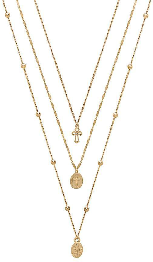 Ettika Single Charmer Necklace Set in Gold | REVOLVE