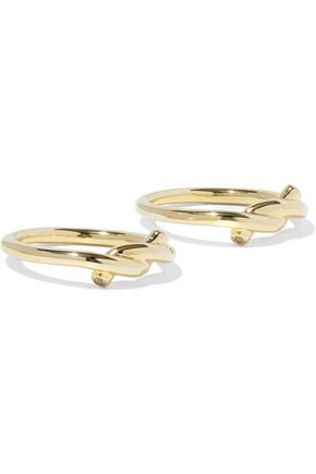 Set of two gold-tone crystal rings | ELIZABETH AND JAMES | Sale up to 70% off | THE OUTNET