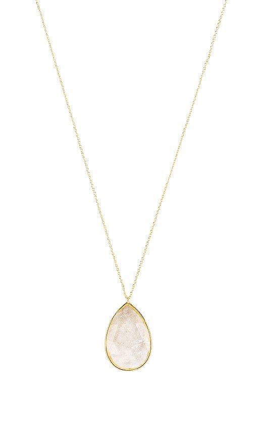 gorjana Olivia Pendant Necklace in Crystal Quartz & Gold | REVOLVE