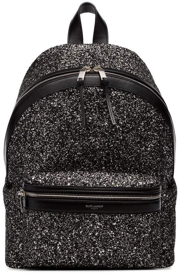 black city glitter backpack