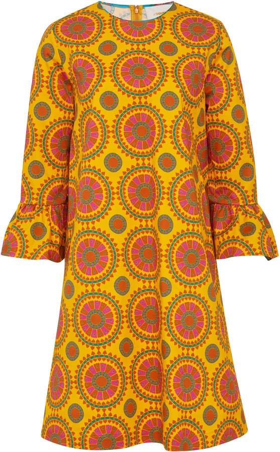 Printed Cotton-Blend Shift Dress