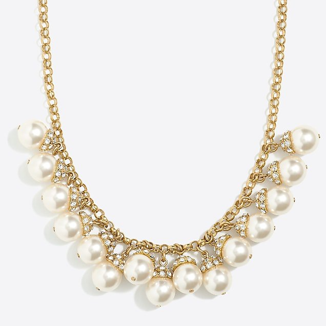 Pearl accent necklace J.Crew