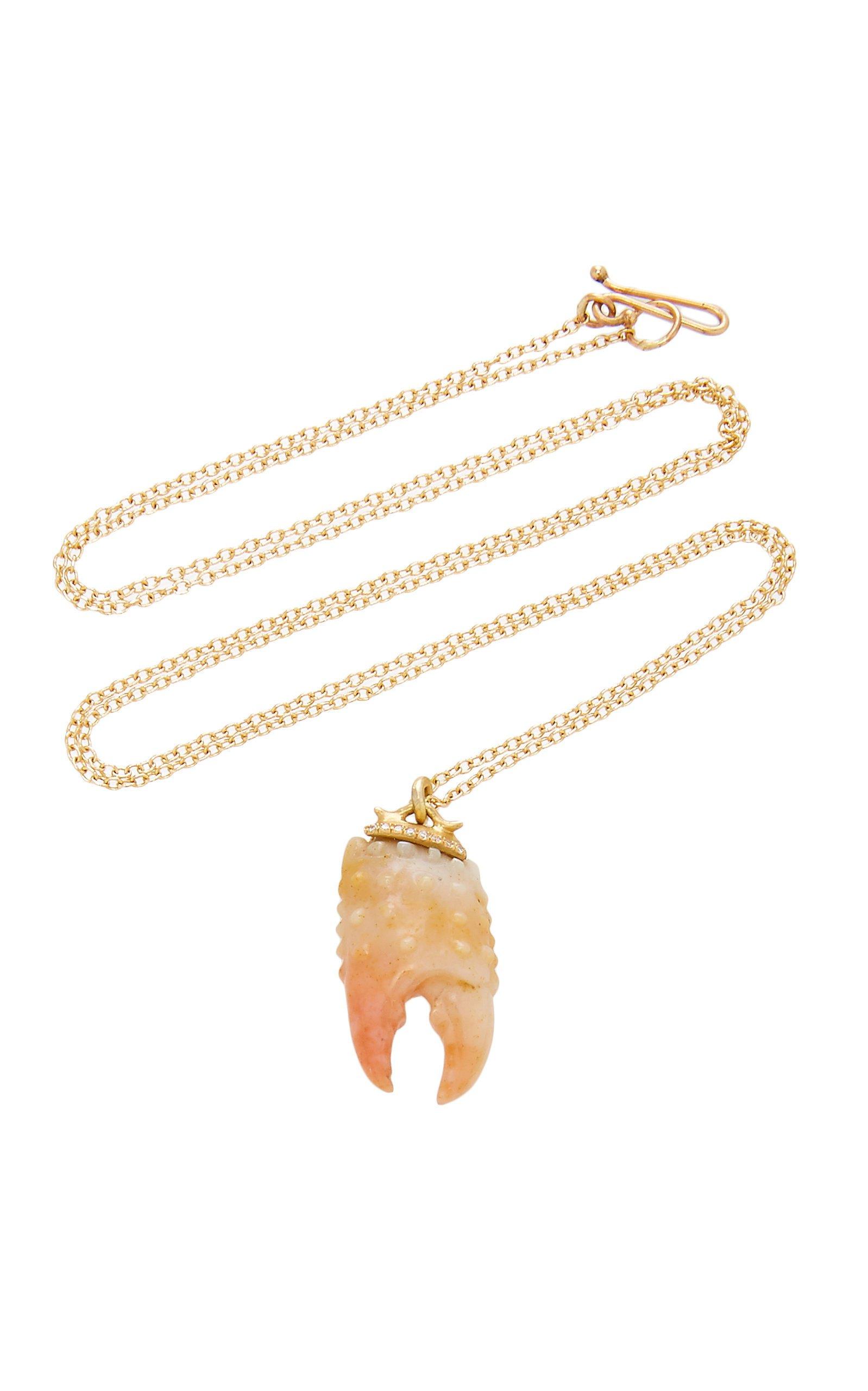 Annette Ferdinandsen Carved Crab Claw pendant