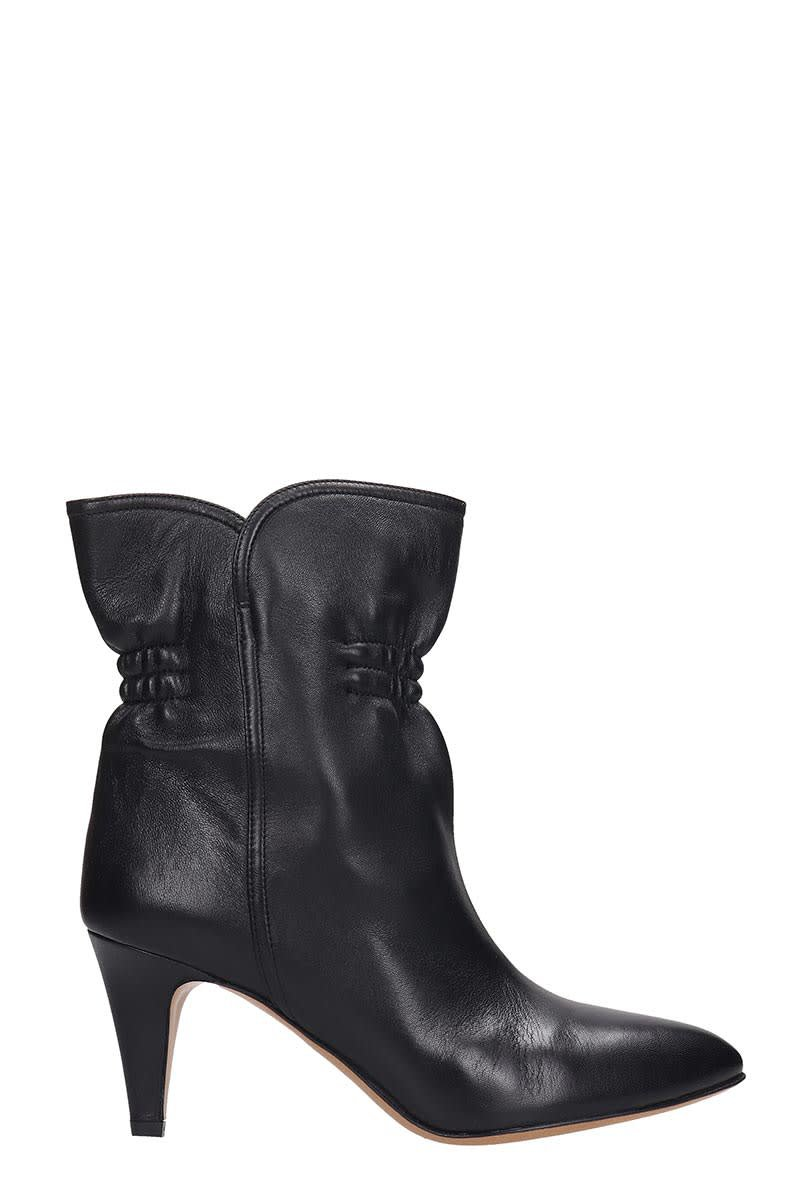 Isabel Marant Dedie Ankle Boots In Black Leather