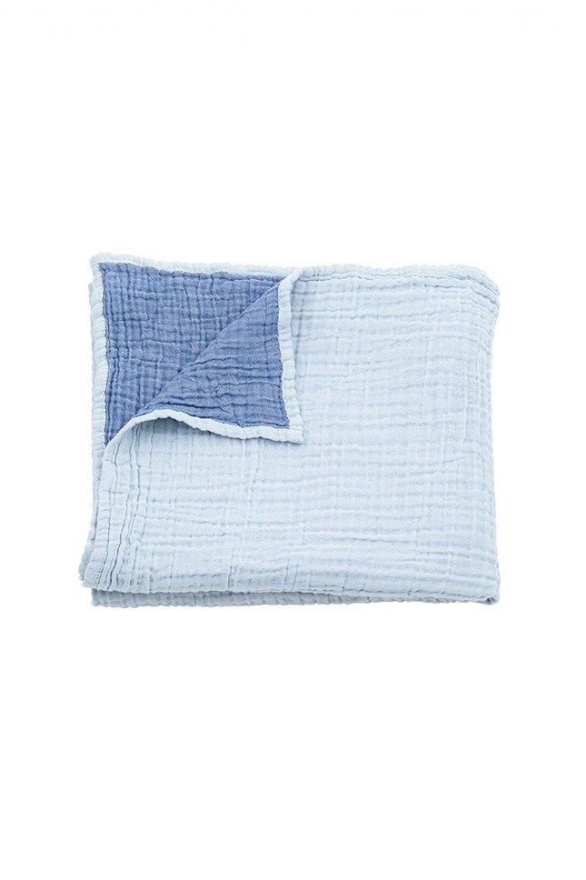 Baby Mori - Cuddle Blanket in Blue | NINE IN THE MIRROR