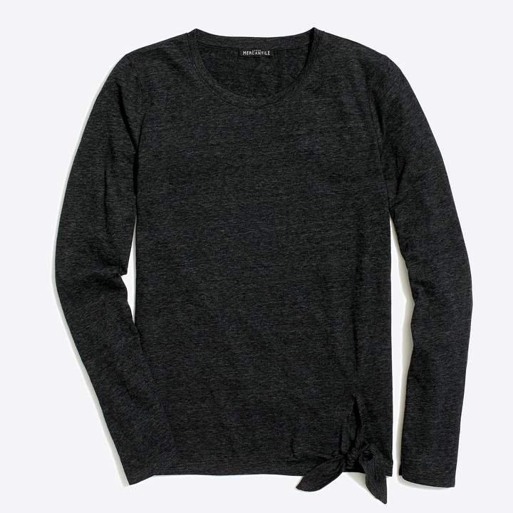Mercantile Long-sleeve side-tie T-shirt