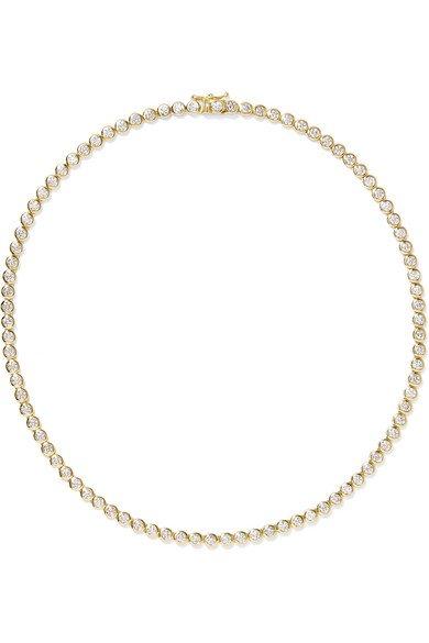 Jennifer Meyer   18-karat gold diamond necklace   NET-A-PORTER.COM