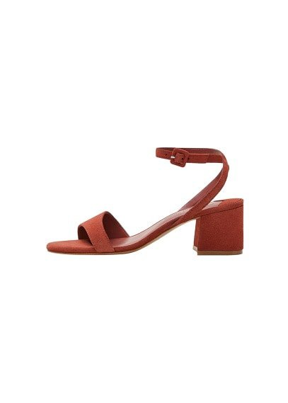 Violeta BY MANGO Leather straps sandals