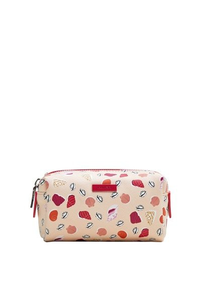 MANGO Seashell printed cosmetic bag