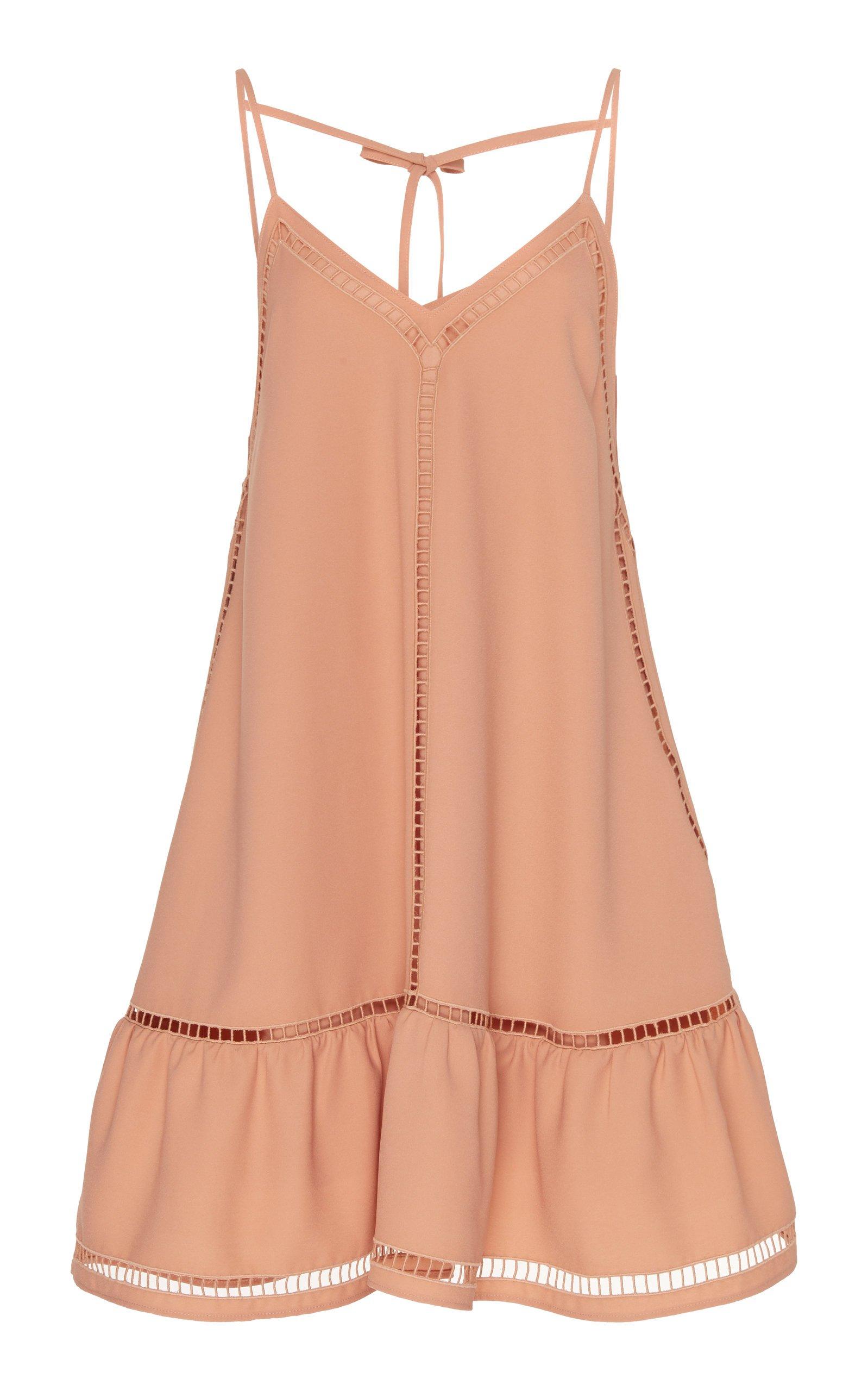 Red Valentino Pointelle Crepe De Chine Slip Mini Dress Size: 36