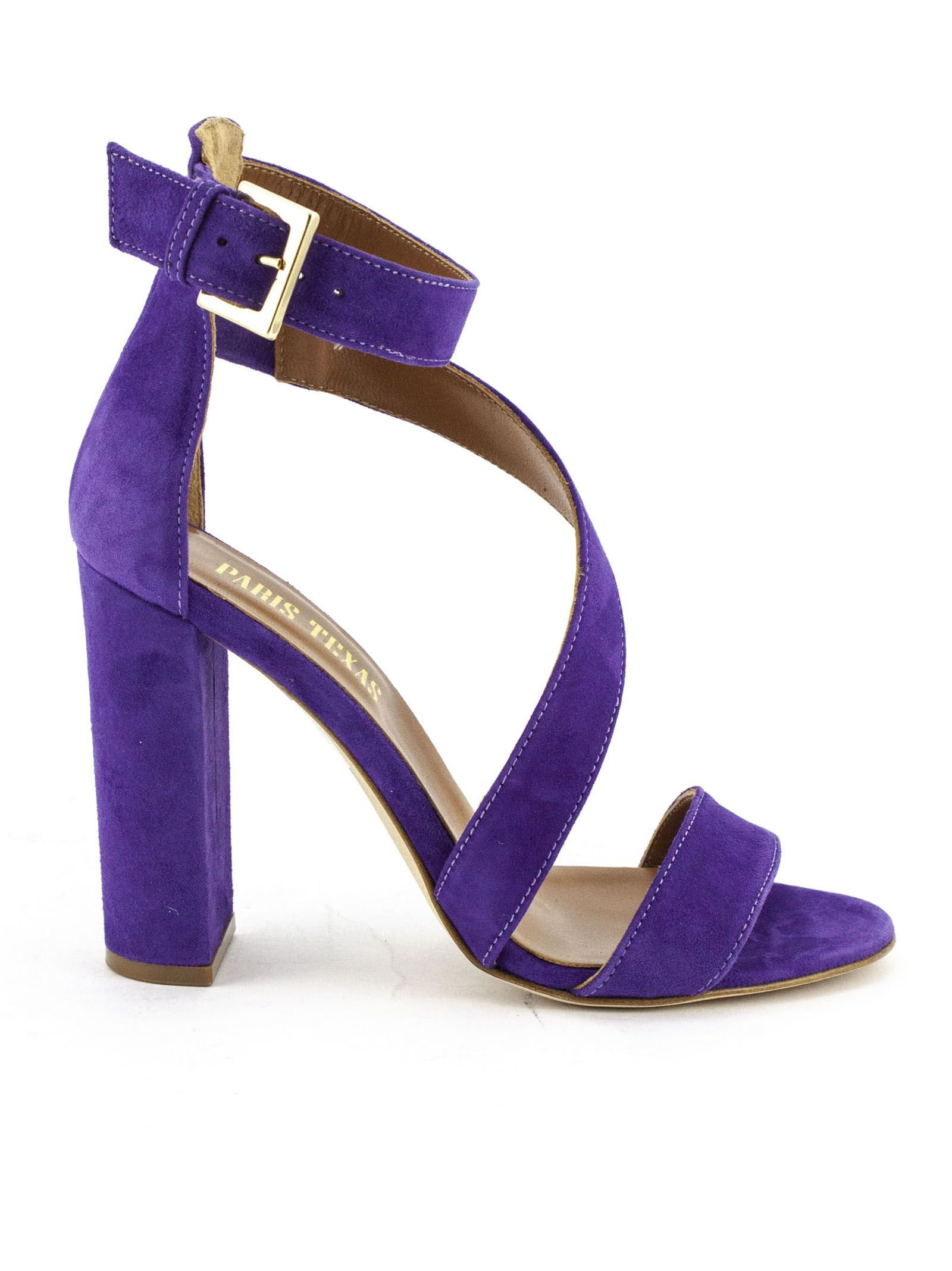 Paris Texas Purple Suede Sandals