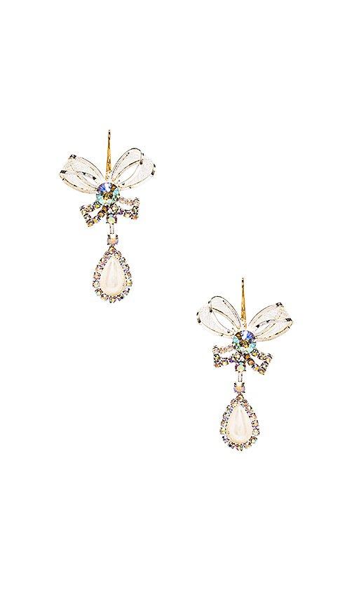 Vanessa Mooney The Bow Tie Earrings in Pearl   REVOLVE