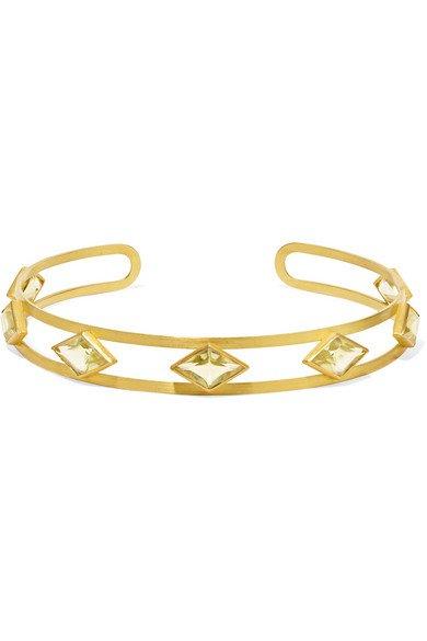 Marie-Hélène de Taillac   Losange 22-karat gold quartz choker   NET-A-PORTER.COM
