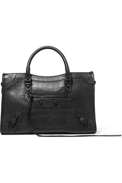 Balenciaga | Classic City croc-effect leather tote | NET-A-PORTER.COM