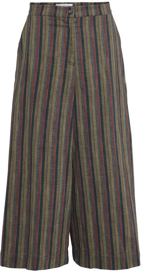 Mcverdi 1970s Inspired Multi-Striped Pants