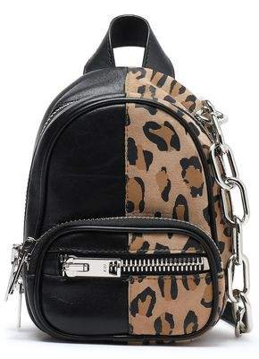 Attica Leopard-print Suede And Textured-leather Backpack