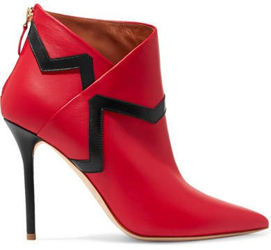 Emanuel Ungaro Amelie Leather Ankle Boots - Red