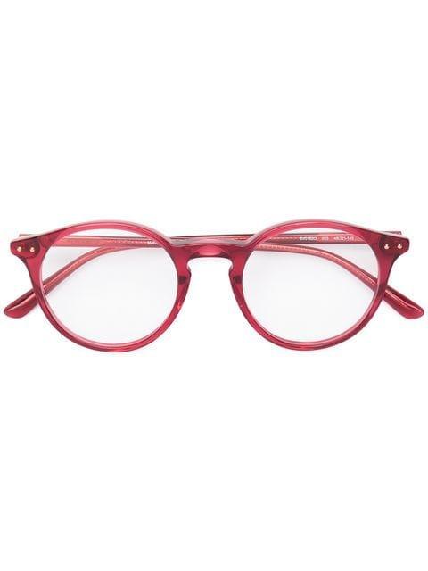 Bottega Veneta Eyewear Round Frame Glasses