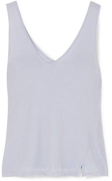 Organic Cotton-jersey Tank - Blue