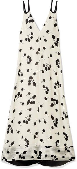 Printed Crepe De Chine Maxi Dress - Ivory
