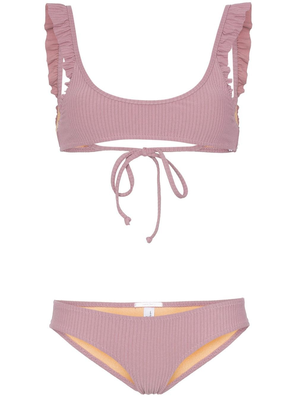 Made By Dawn petal frill detail bikini $300 - Buy Online - Mobile Friendly, Fast Delivery, Price