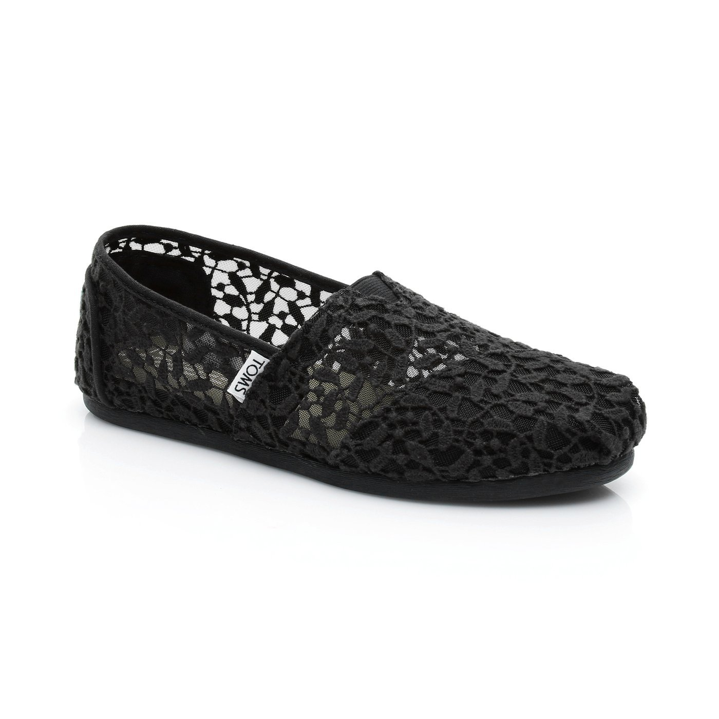 Toms Classic Lace Leaves Kadın Siyah Espadril Kadin Espadril 3444927 | SuperStep