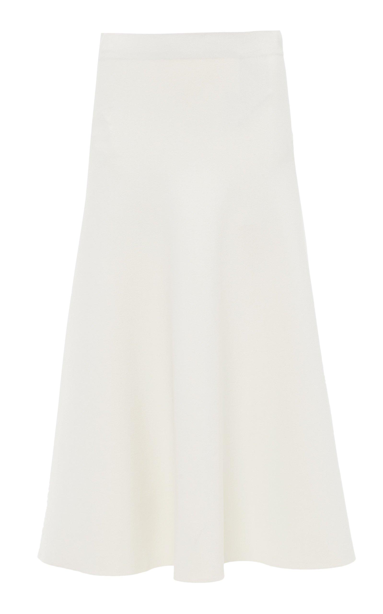 Jil Sander Crepe Midi Skirt Size: 36