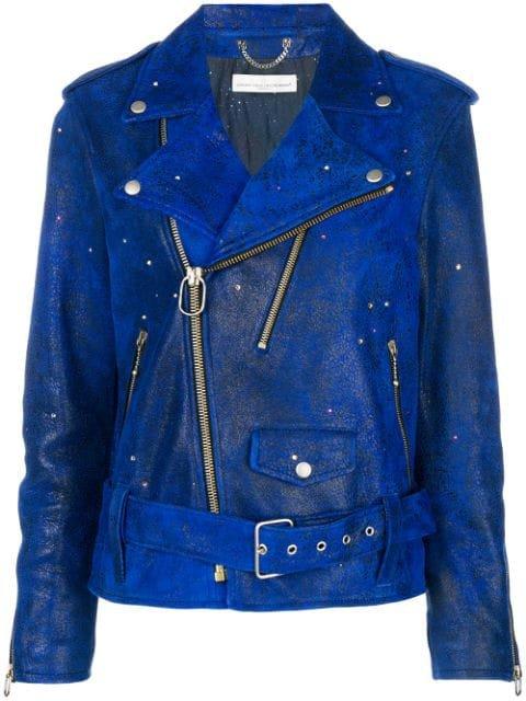 Golden Goose crystal-embellished Biker Jacket - Farfetch