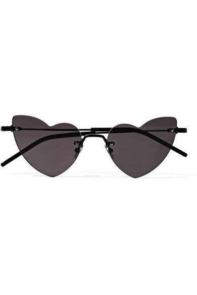Saint Laurent | New Wave Loulou heart-shaped metal sunglasses | NET-A-PORTER.COM