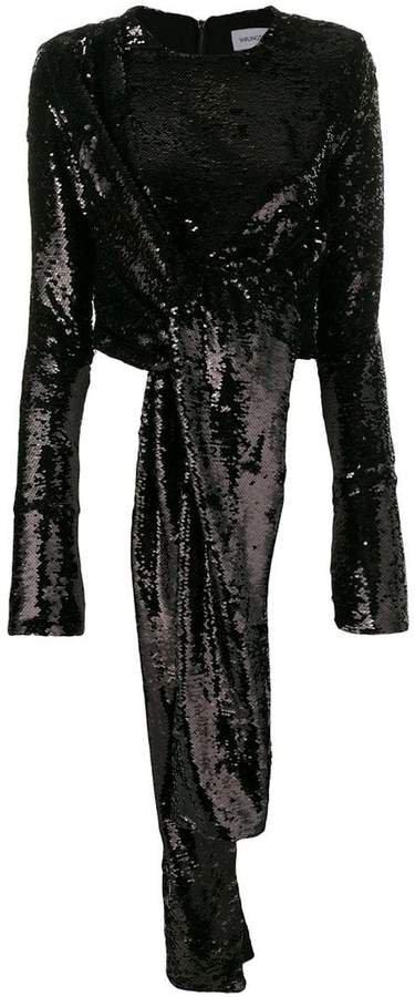 16Arlington tie detail sequin blouse