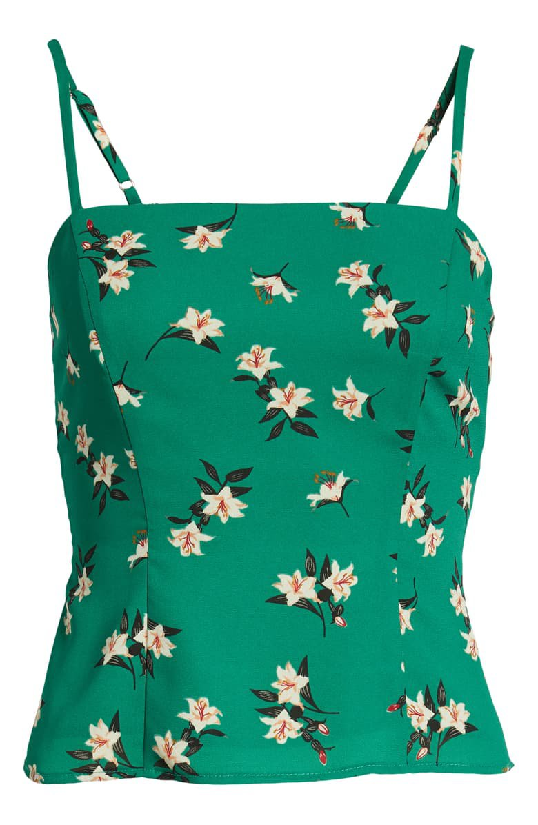 ASTR the Label Floral Fitted Camisole | Nordstrom