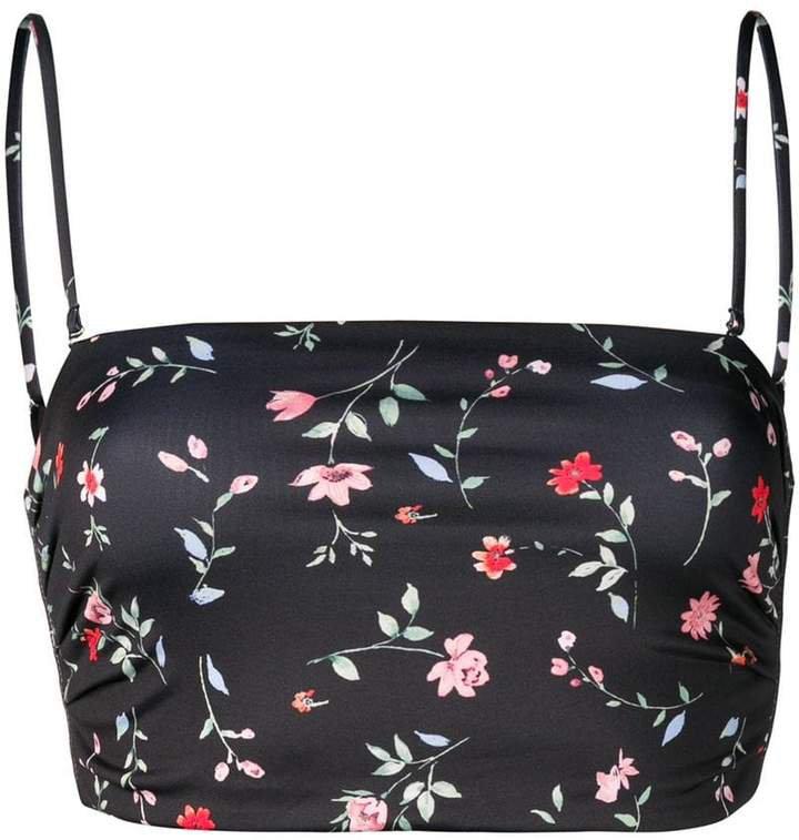 floral print bikini top