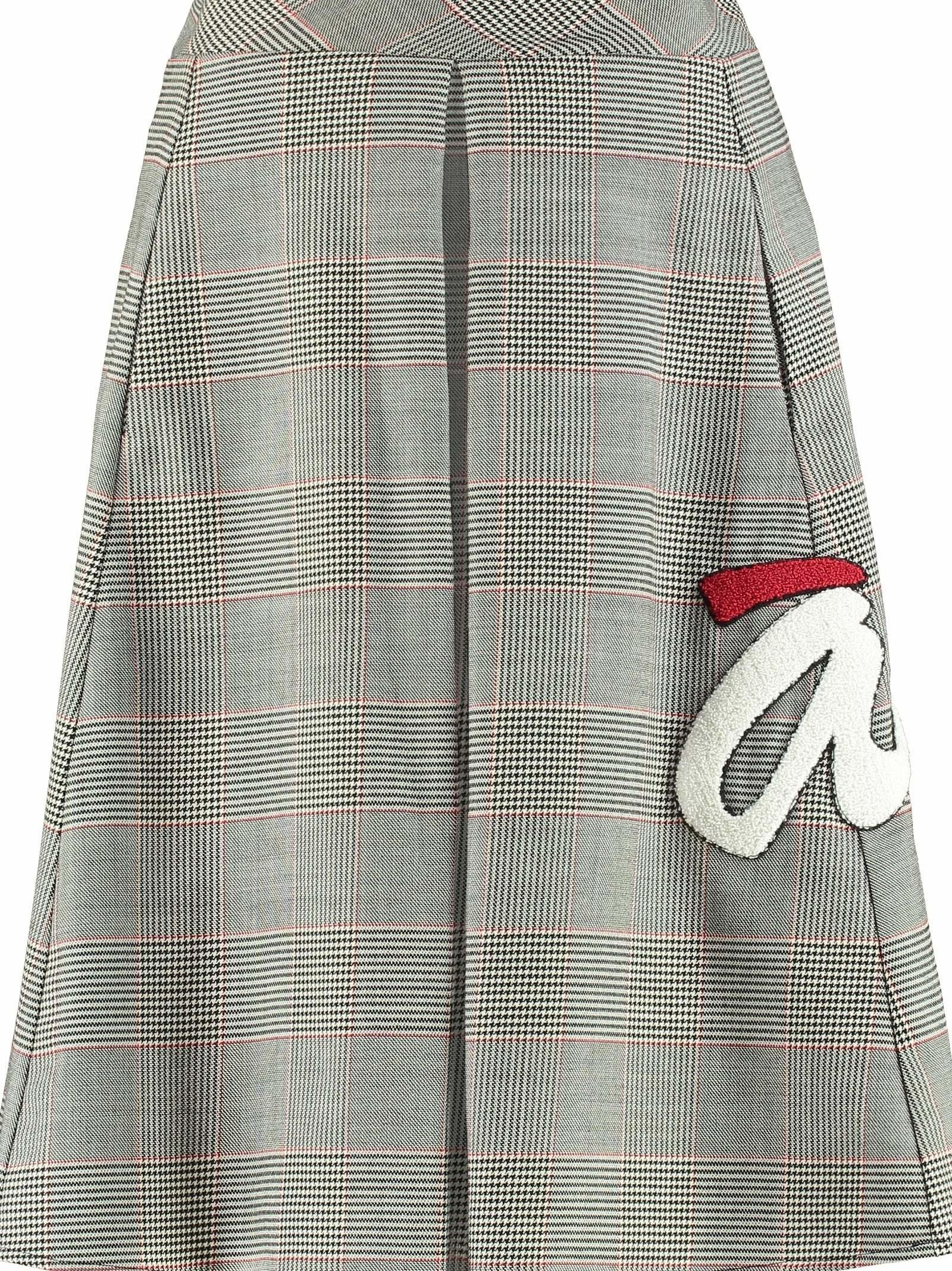 Ultrachic Tartan Motif Wool Skirt