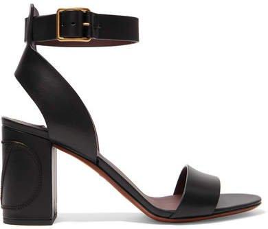 Garavani Go Logo Leather Sandals - Black