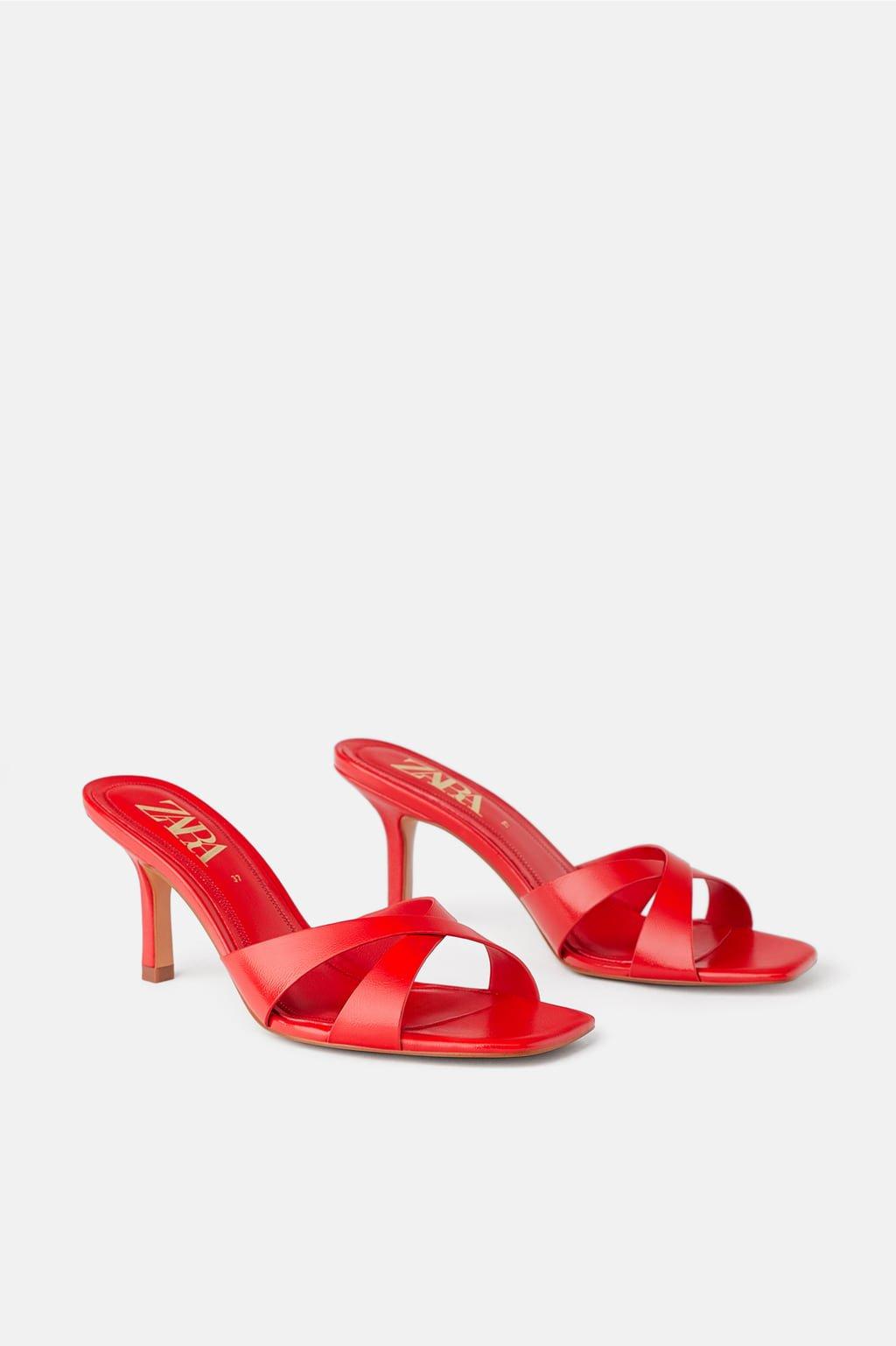 Zara Tacón Cruzadas Mujer Mule Sandalias Zapatos Tiras xdCoerB