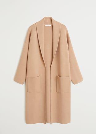 Pocket knit cardigan - Women | Mango USA brown