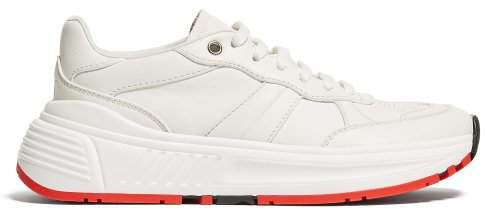 Low Top Leather Trainers - Womens - White