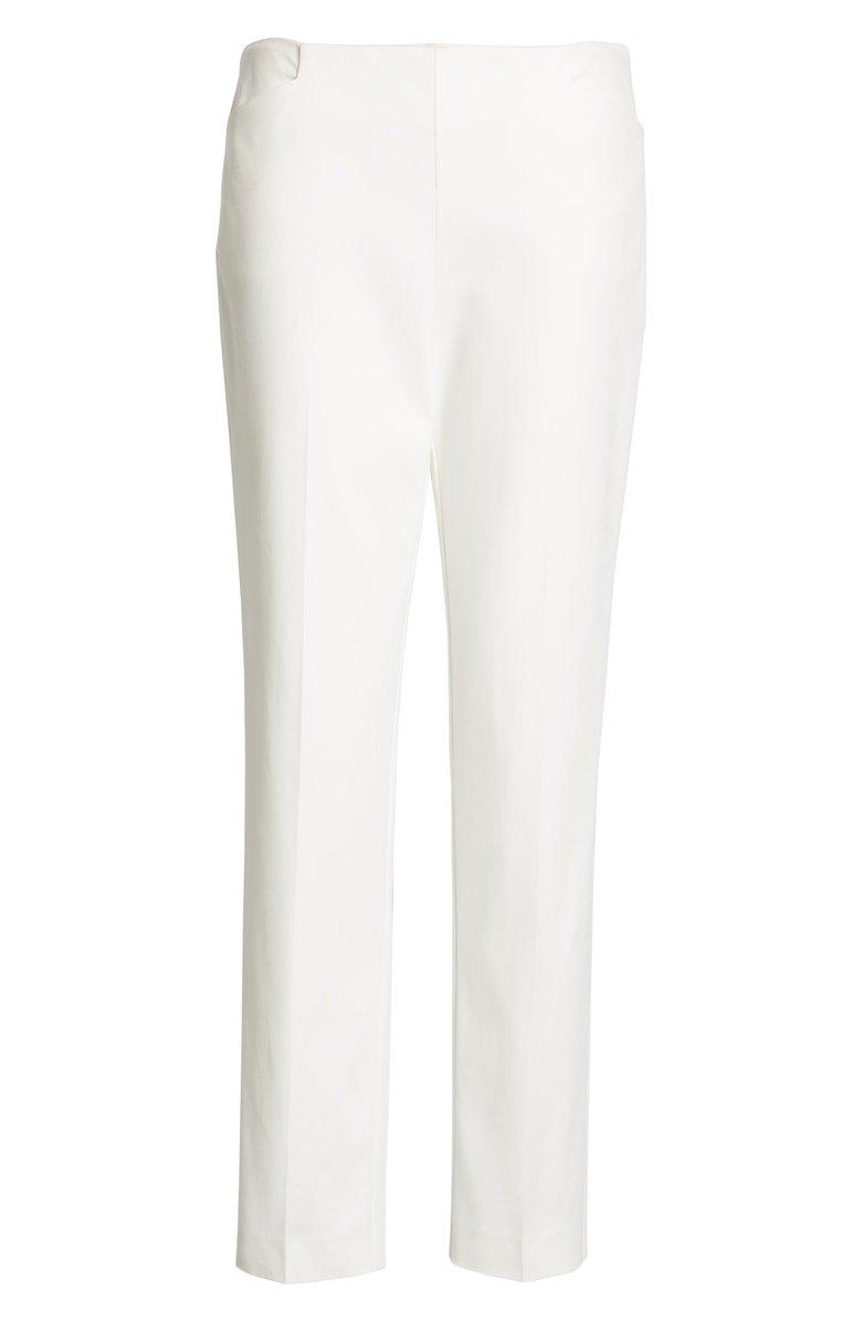 Vince Camuto Side Zip Stretch Cotton Blend Pants   Nordstrom