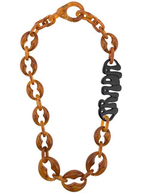 Prada Logo Plexiglass Necklace - Farfetch